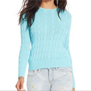 NWT RALPH LAUREN Cable Knit Sweater M